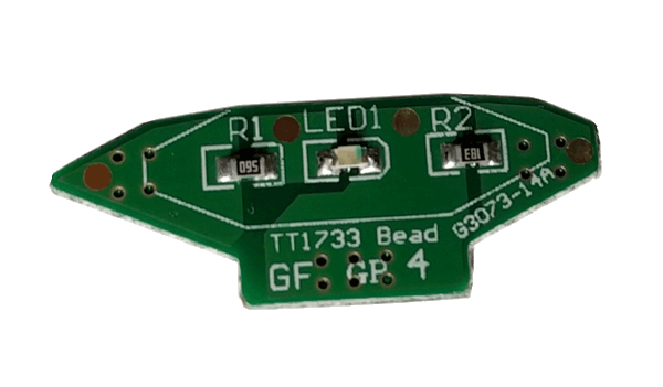 The LED is located on a daughterboard of the main PCB